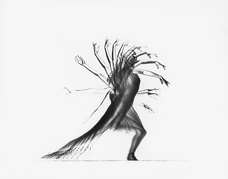 disegno di un corpo in movimento