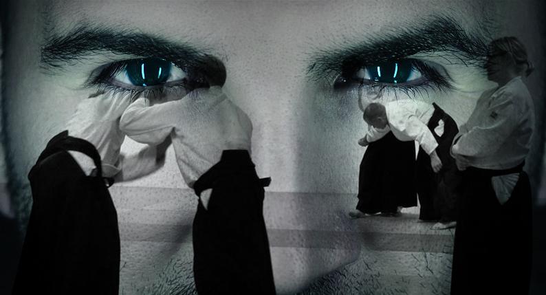 Occhi che guardano praticanti di Aikido